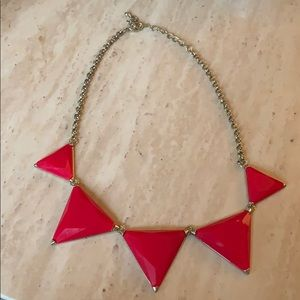 Jewelry - Red triangle statement necklace